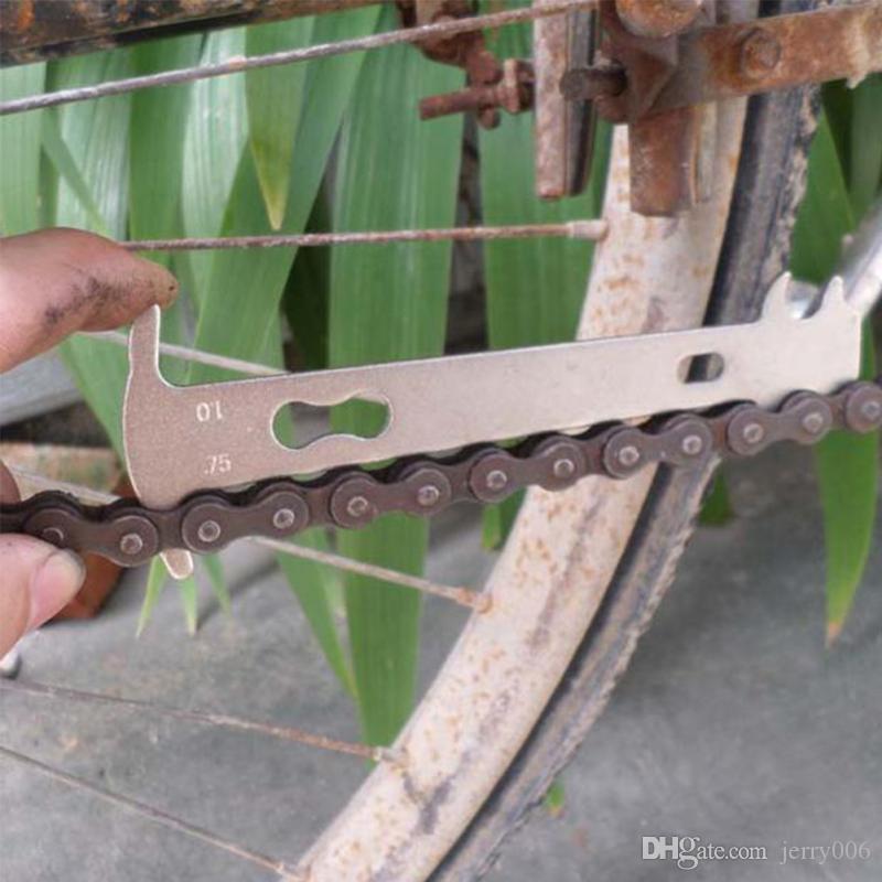 comprobaci/ón de accesorios para bicicleta de carretera medidor de reparaci/ón Cadena de bicicleta multifuncional indicador de desgaste instrumento de medici/ón Dishykooker