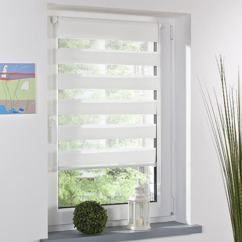 Moda Rulo Zebra Kör Perde Pencere Gölge Dekor Ev Ofis Beyaz