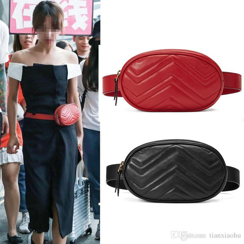 2018 Neue Luxus-Handtaschen-Frauen-Beutel Designer Gürteltasche Fanny Pack Dame Gürteltasche Frauen Famous Brand Brusttasche