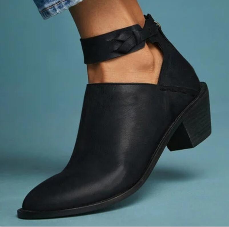 vintage en cuir martin bottines chaussures femme ete fille automne hiver bottes femmes chaussures femme dames zapatos mujer TA0098