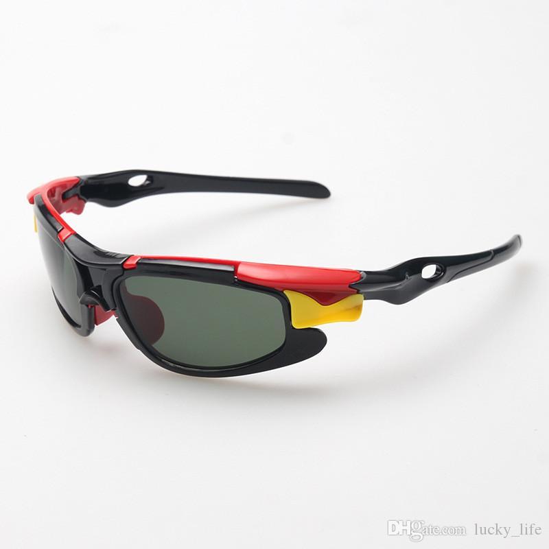 20 adet Pro Yeni Çocuklar TAC Polarize Gözlük Bebek Çocuk Güneş Gözlüğü UV400 Güneş gözlükleri Erkek Kız Sevimli Serin Spor bisiklet Güneş Gözlükleri