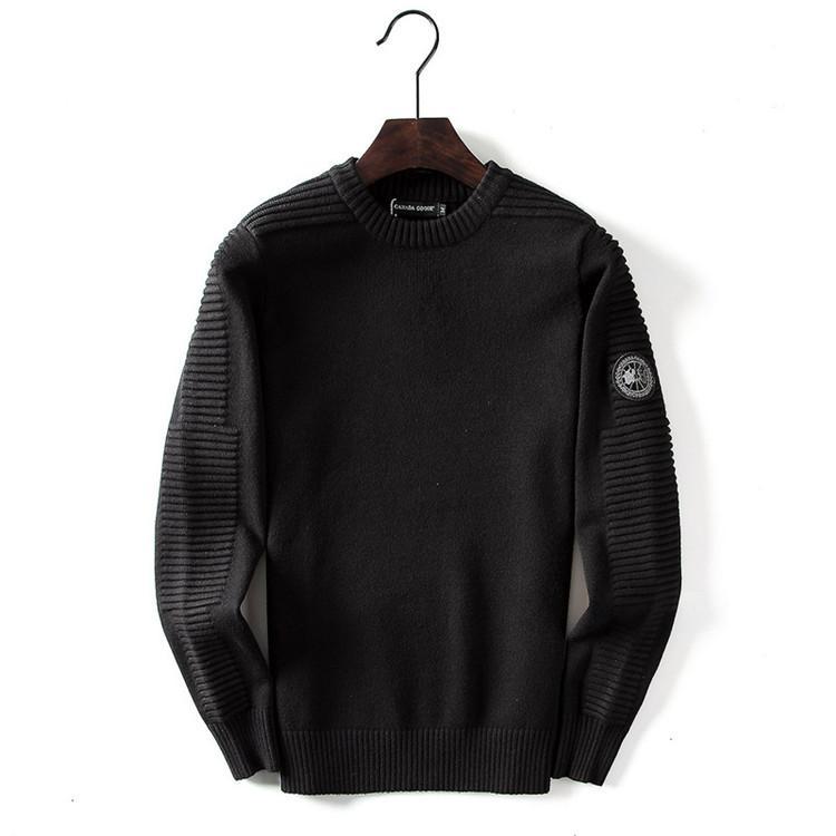 Мужские свитера Дизайн Канада Casual Марка Шерсть Рубашка Твердая Блуза Бизнес Стиль Зимний свитер для мужчин