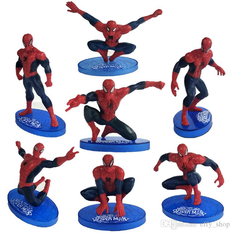 Admirable Compre 7 Pcs Lote Spiderman Cake Boy Partido Cupcake Toppers Funny Birthday Cards Online Unhofree Goldxyz