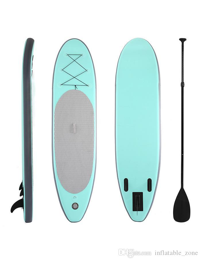 Surfing Sports 300 * 75 * 15cm Tabla de surf inflable Stand Up Up Paddle Board Tabla de surf inflable con mochila Bomba de mano