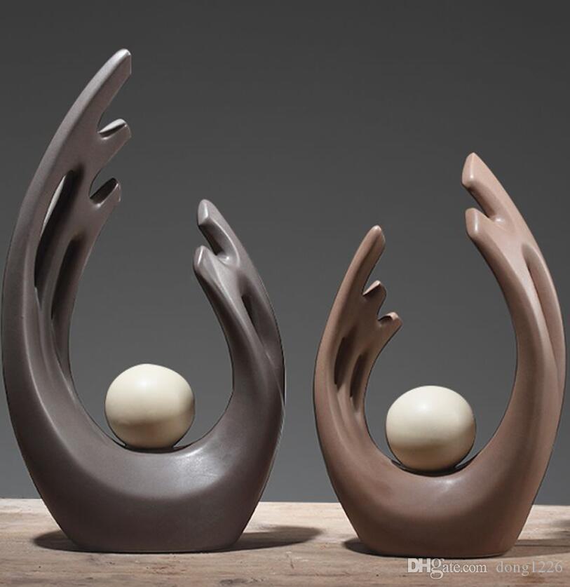 ailes en céramique statue home decor artisanat chambre décoration artisanat ornement porcelaine figurines créatives décorations de mariage