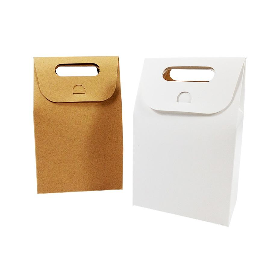 500pcs Kraft Paper Candy Box Gift Packaging Handbag Zakka Craft Bakery Cookies Biscuits Package Bags Wedding & Party Favors