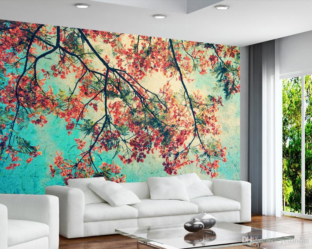 carta da parati personalizzata 3d stereoscopico pavone fiore ramo camera da letto soggiorno TV sfondo wallpaper per pareti 3d foto wallpaper
