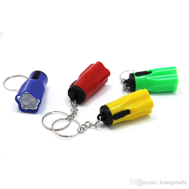 البلاستيك بقيادة مشاعل السوبر ميني مع حلقة المفاتيح المحمولة للحصول على التخييم في الهواء الطلق المشي لمسافات طويلة الشعلة زهرة البتلة الشكل 0 35ch ZZ
