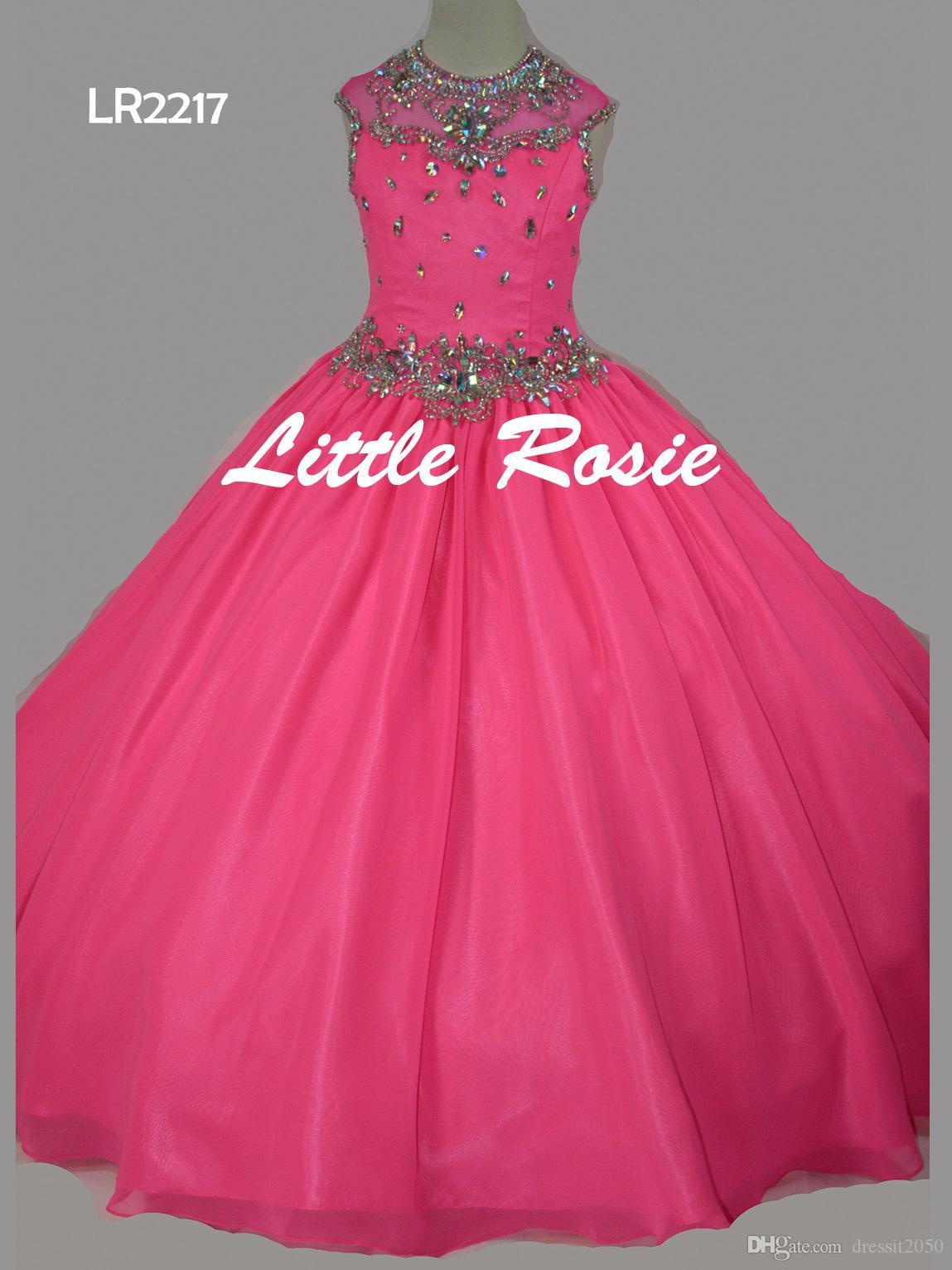 뷰티 자홍색 화이트 옐로우 시폰 구슬 플라워 걸 드레스 소녀 옷차림 드레스 휴일 / 생일 드레스 / 스커트 커스텀 사이즈 2-14 DF710322