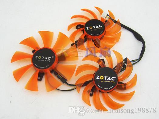 기존 ZOTAC GTX 980-4GD5 AMP HA GA81S2U 12V 0.38A 그래픽 카드 3 개 팬