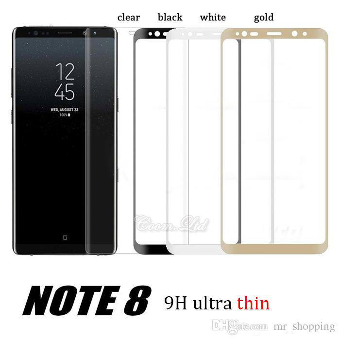 Color : Black Black Screen Protector Protective 25 PCS 9H 3D Full Screen Tempered Glass Film for Galaxy S9 Plus Glass Film
