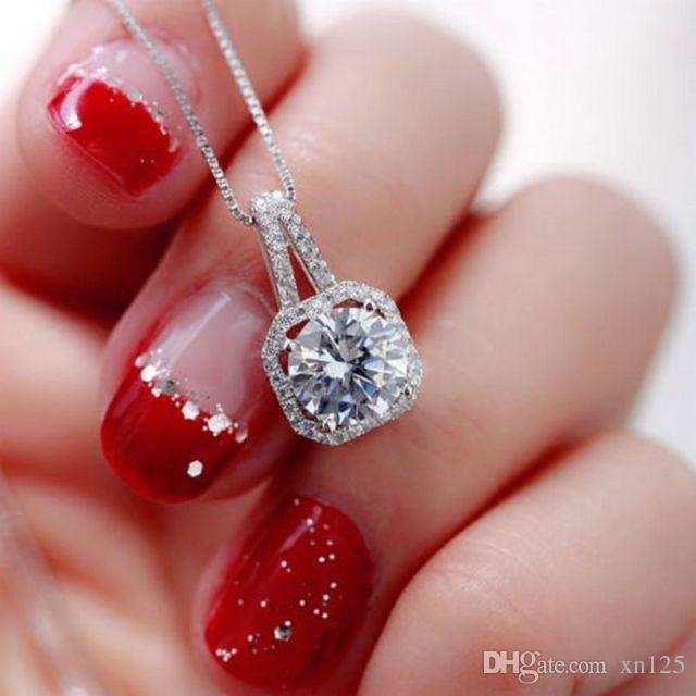 Pendentif chaîne de bijoux pendentif en cristal de charme déclaration chunky collier tour de cou