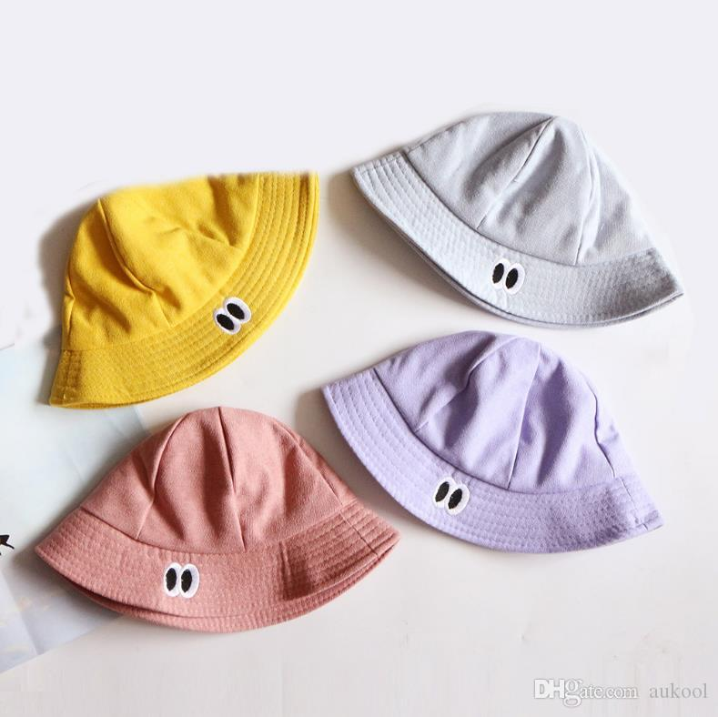 2018 Sombrero de los niños Sombrero de los pescadores del sombrero de los niños nuevos Sombrero del sol al aire libre Sombreros lindos de la muchacha del niño Sombreros al aire libre