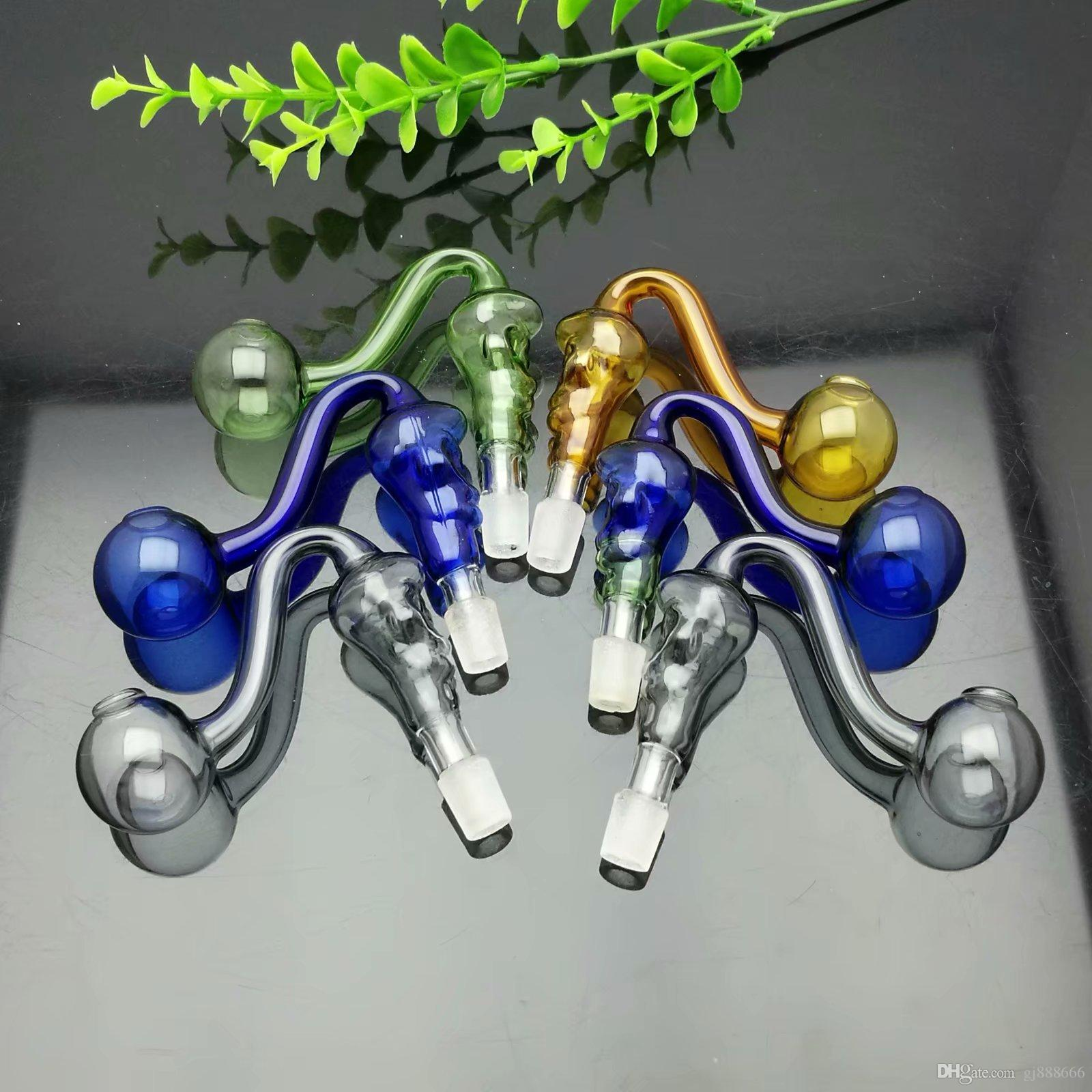 Glas Hookah Färgad Skull Glasbrännare 14mm