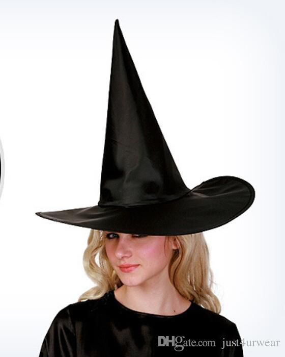 Men Women Kids Hat Halloween Costume Accessories Party Performs Props Witch Hats Wizard Magic Harry Hats Cosplay Black Hats Free Size
