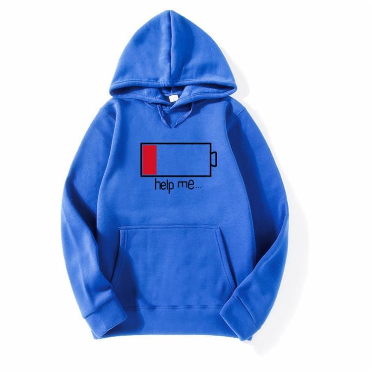 Le pile inferiori Aiutami Funny Print Hoodie 2018 Spring Winter Fleece Felpe Fashion Casual Sportswear da uomo Crossfit M4