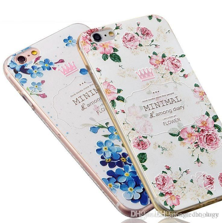 3D Painted Relief TPU case For iphone X 8 7 plus Case Ultra-thin Scrub Silicone Phone Cases For iphone 6S Plus X