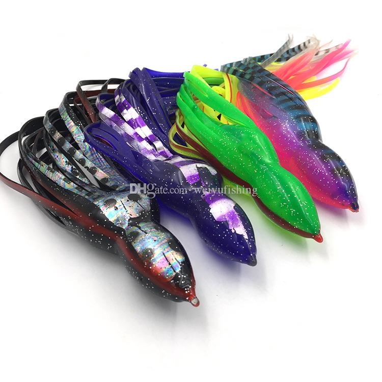 Free Shipping 10inch Octopus Fishing Lure Big Game Lure Bait Skirt Fishing tackle Color Mixed