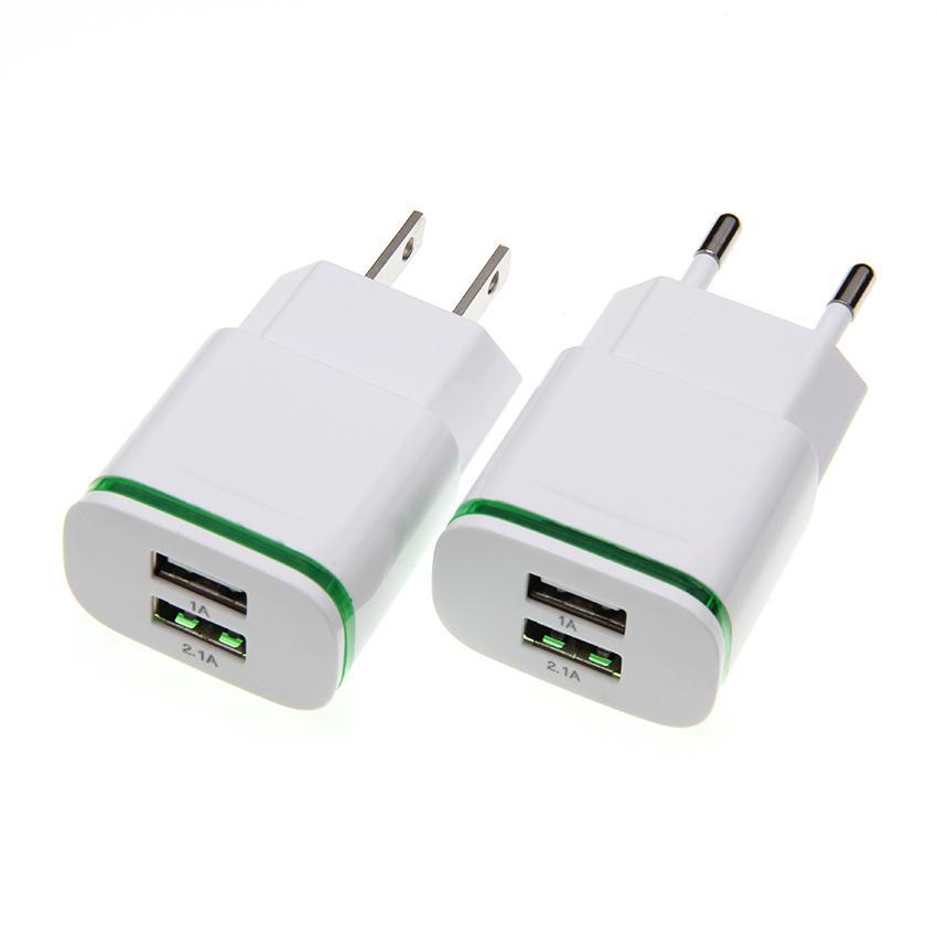 ЕС / США Plug 2 порта LED USB AC адаптер питания зарядное устройство путешествия зарядное устройство для Samsung Galaxy Примечание 8 для всех смартфонов Моды