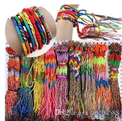 Wholesale Colorful Woven Bracelet Girls Infinity Handmade Jewelry Cheap Braid Cord Strand Handmade Friendship Bracelets Women Accessories
