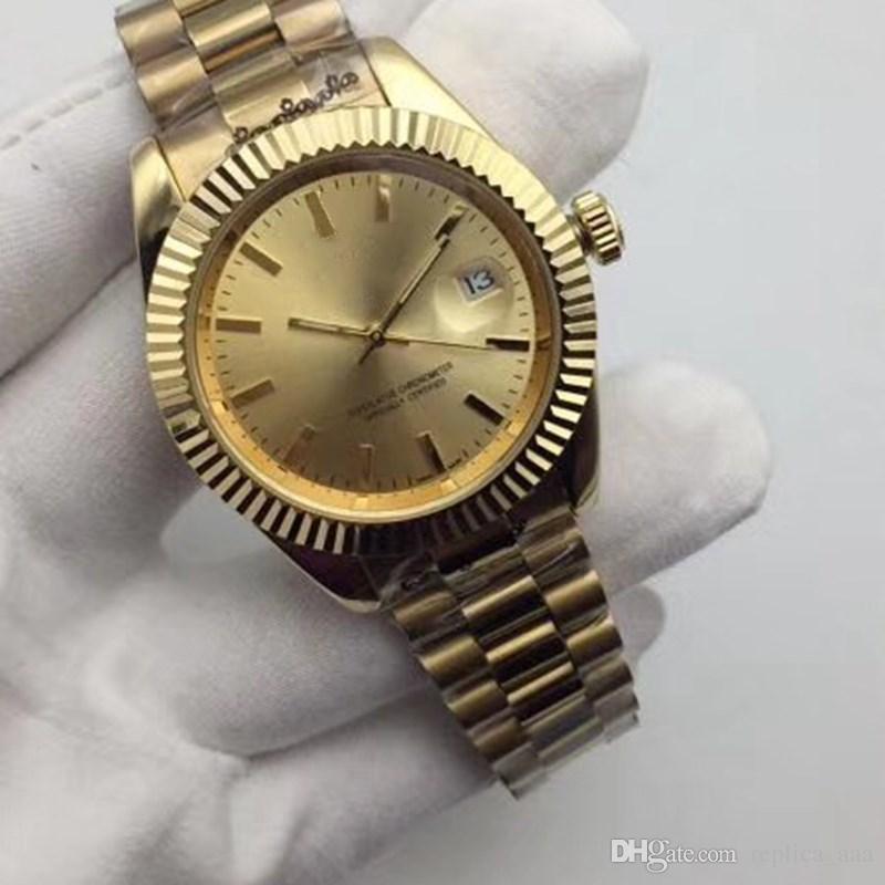 In vendita quarzo di marca in acciaio inox 36 / 40mm moda uomo orologi all'ingrosso giorno data uomini abito designer orologio maschile orologi regali orologio da polso
