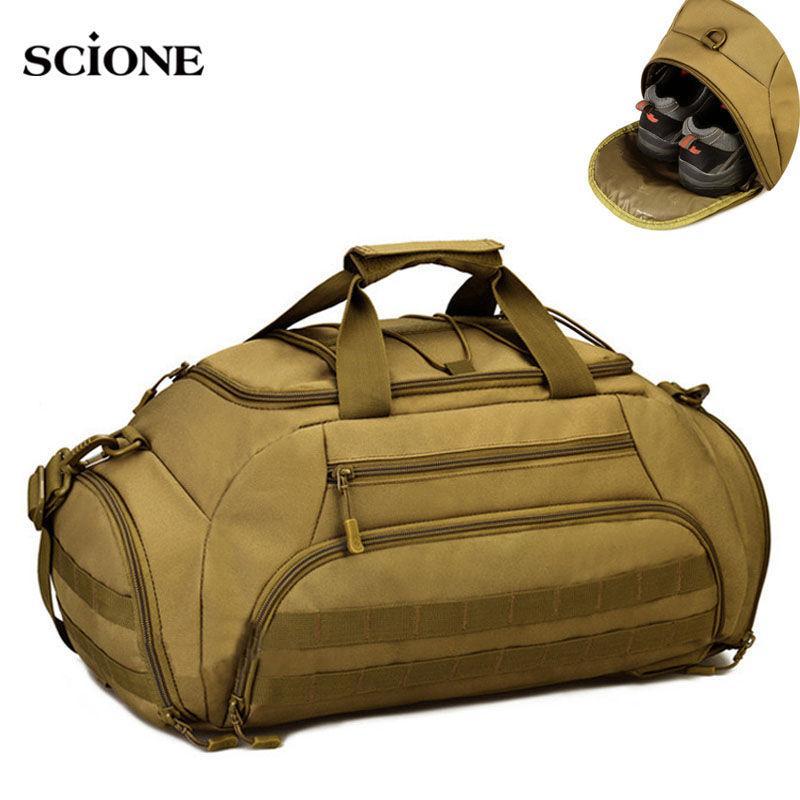 35L Gym Mochila Mochila Tactical Molle bolsas impermeáveis Shoes Sports Handbag Camping 14 '' Laptop Canera X335WA