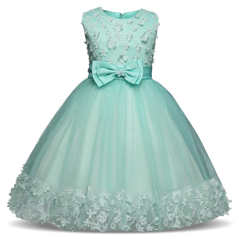 Compre Las Niñas Visten Las Perlas De Malla Para Niños Vestidos De Fiesta De Bodas Vestidos De Baile Para Niños Vestidos De Gala De Noche Formal Para