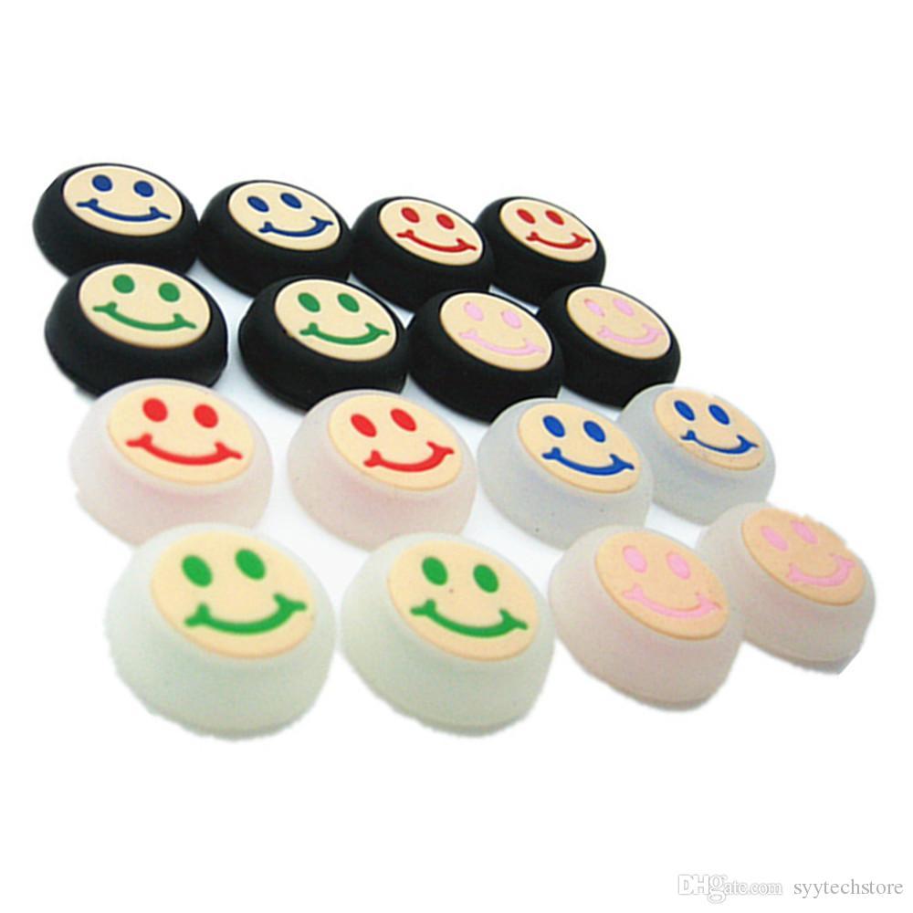 Syytech Honbay ابتسامة الوجه نمط حزمة الإبهام العصي يغطي غطاء عصا التحكم مجموعات غطاء القضية ل ps4 xbox one / 360 ps3 تحكم