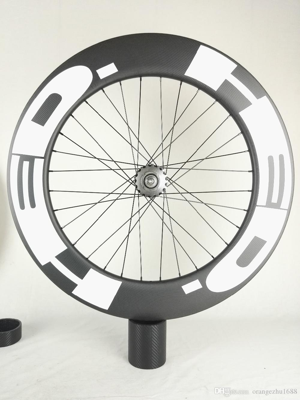 Free Shipping!!HED Carbon Wheels 90mm Clincher tubular track Bike Carbon Wheel 700C 25mm width track Bike Fixed Gear