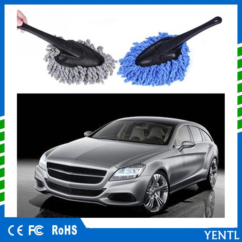 YENTL Mini Wax Brush Microfiber Car Duster Brush Wax Mop Truck Cleaning Dust Removal Brush Cleaning Auto Computer Keyboard Dirt Wax