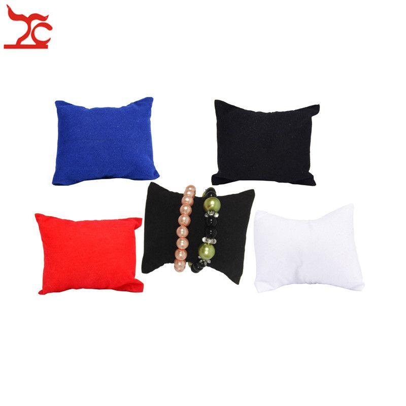 Оптом мода ювелирные изделия держатель дисплея браслет браслет подушка бархатные часы цепи бисера дисплей организатор подушка подушка