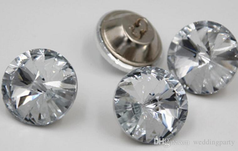1000PCS / LOT 14mm / 16mm / 18mm / 20mm / 25mm / 30mm boutons de verre en cristal de satellite / boutons de décoration de canapé / boutons de couture