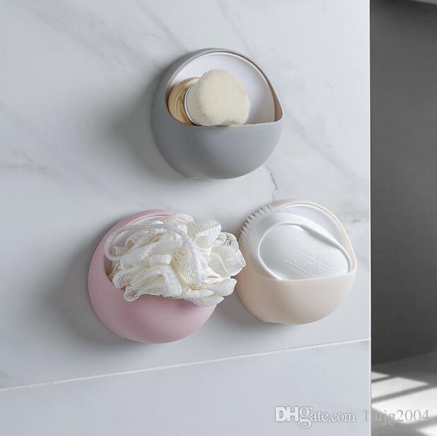 Nouveau accessoires de salle de bains mignon porte-brosse à dents en plastique coloré crochets à ventouse à montage mural type support de stockage ventouse