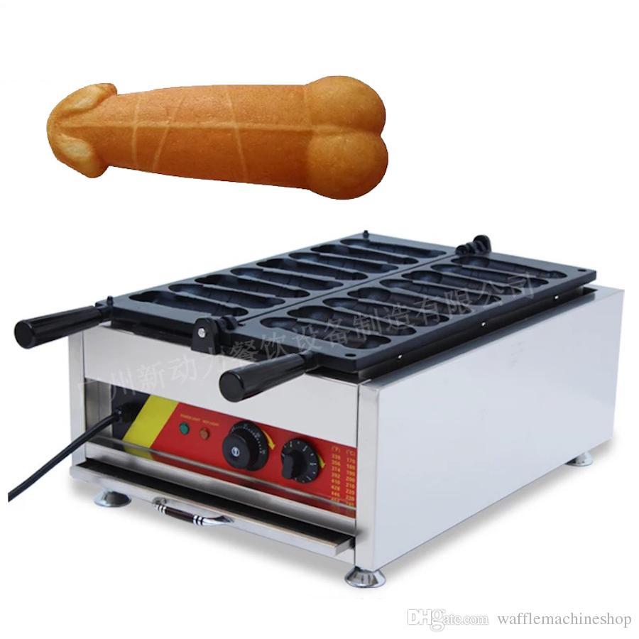 Yeni Ticari Penis Waffle Maker Tayvan Popüler Snack Ekipmanları Waffle Stick Maker Waffle Köpek Makinesi Elektrik