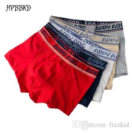 Hpbbkd 5 шт./лот сплошной цвет мальчик трусики хлопок дети дышащий нижнее белье боксер трусики для мальчиков дети шорты брюки BU016