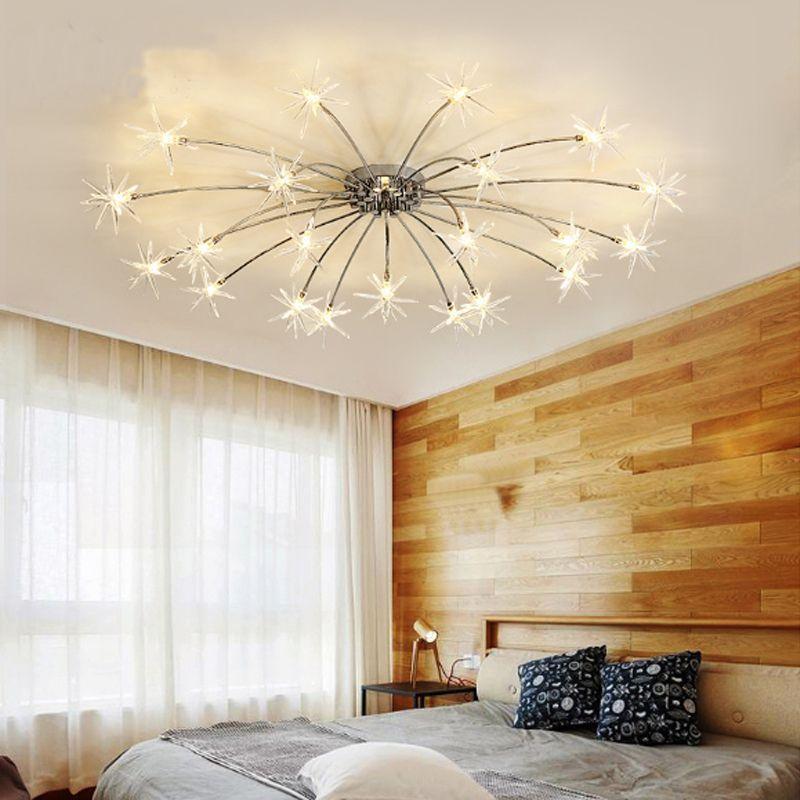 Wohnzimmer Deckenleuchte moderne einfache Haushalt LED-Licht kreative Persönlichkeit Restaurant Bibliothek Deckenleuchte Eisen führte Schlafzimmerlampe
