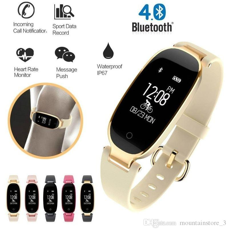 Bluetooth Waterproof S3 Smart Watch Fashion Women Ladies montre Heart Rate Smartwatch relogio inteligente For Android IOS reloj (Retail)