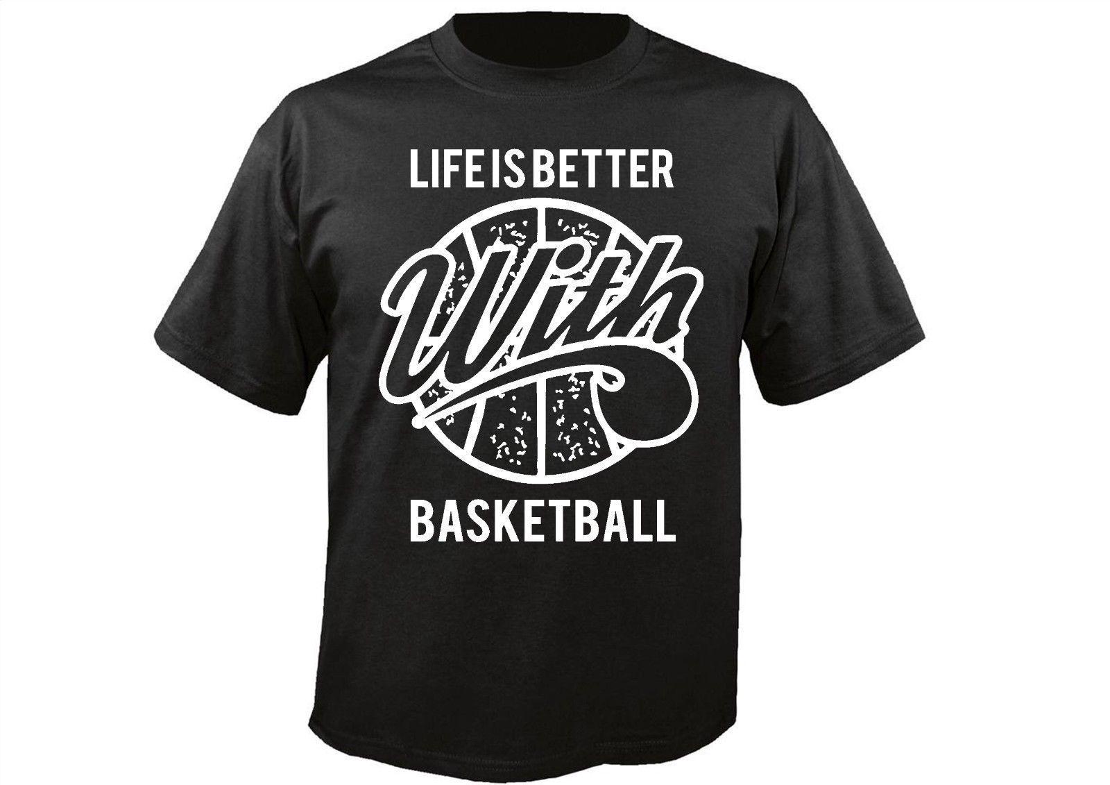 La camiseta masculina más vendida La vida es mejor con Basketballer Envío rápido Camiseta de verano gratis