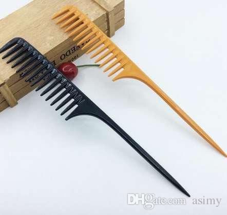 1 шт. 2 цвета профессиональный наконечник хвост гребень для салона парикмахерская раздел щетка для волос парикмахерский инструмент DIY волос широкие зубы расчески