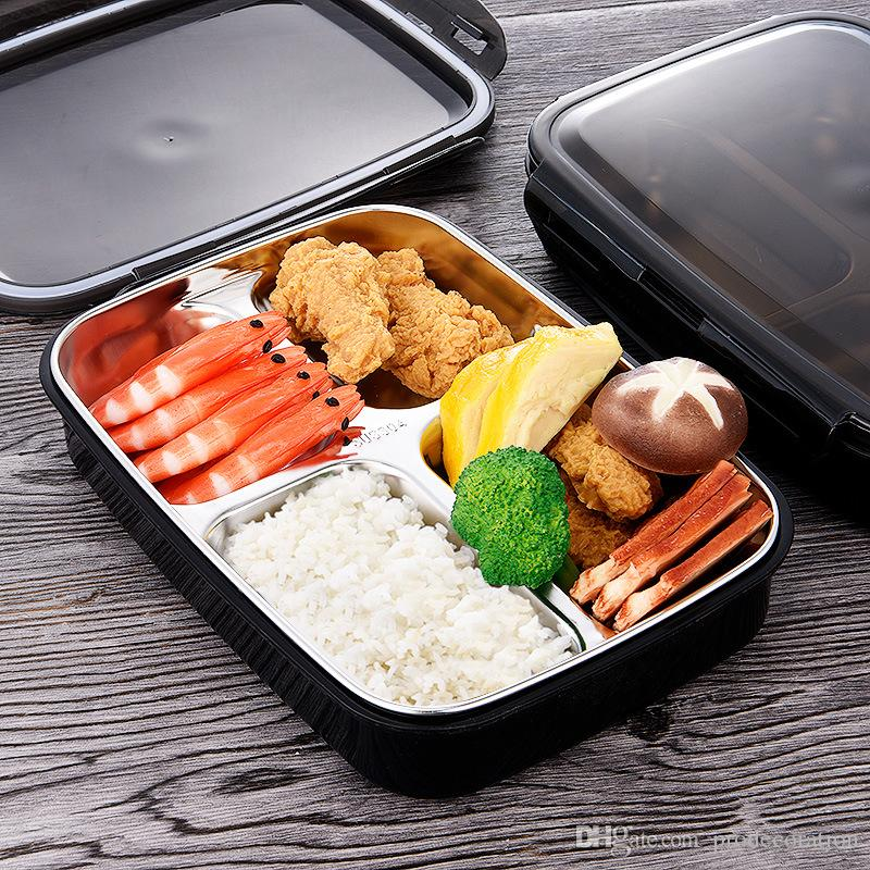 Lunch Box Stainless Steel Portable Picnic Office School Food Containers With Compartments Microwave Bento Box Best Product