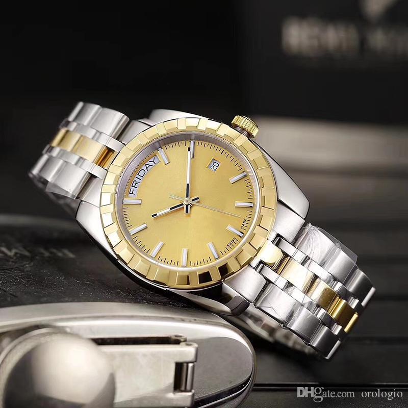 Top de luxo homens de aço inoxidável Watch Strap automática Movment Sapphire Vidro Espelho Mens Relógios jason007 orologio di lusso