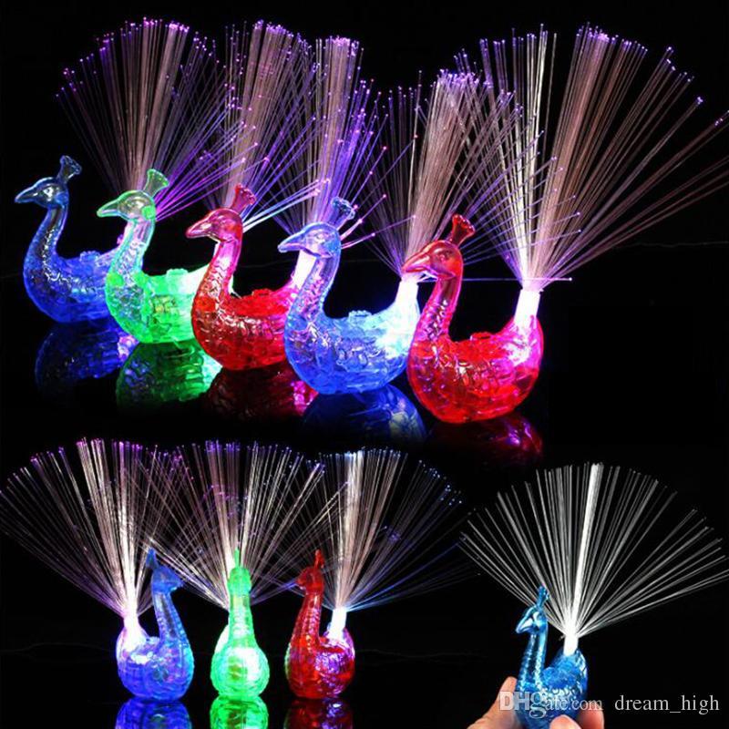 Blitz LED Light-up Ringe Pfau Finger Licht Party Gadgets Kinder Intelligente Spielzeug Für Party Weihnachtsgeschenk Nachtmarkt Verkauf