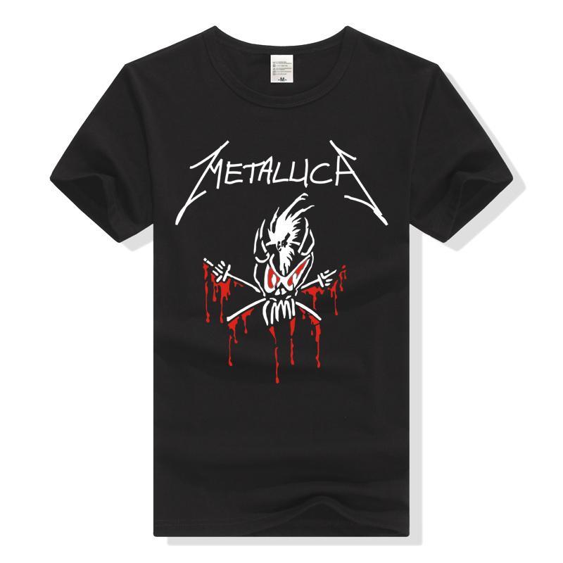 LEQEMAO Rock Band Metallica T Shirt Skull T-Shirt Men Women Tee Shirt New Fashion Streetwear Hiphop