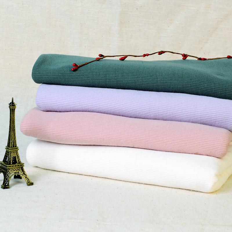 High quality 40s cotton lycra rib fabric solid color European style for shirt home textile 50*135cm/piece A0275