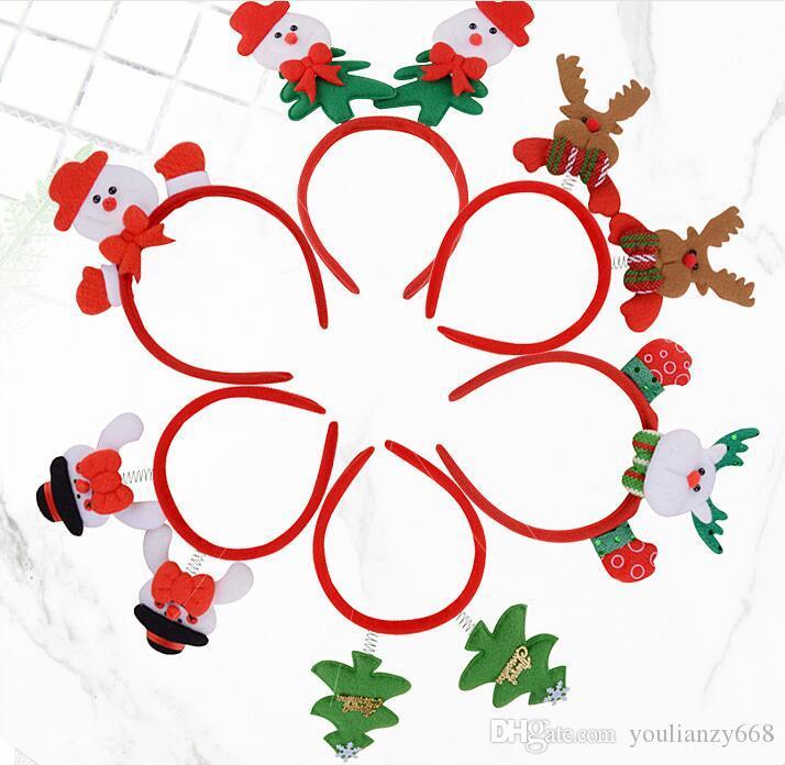 (50шт)Оптовая Рождественский обруч волос лося олень рога глава кнопка headge ar дети туалетный реквизит рождественские декоративные обруч волос