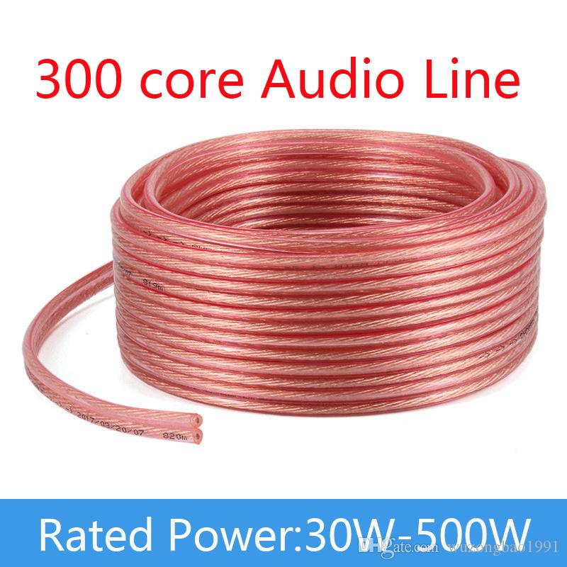 300 Core DIY Pure Oxygen-Free Copper Audio Engineering Cable Loud Speaker Audio Cable Amplifier cable For Company 2*150 Core Wire Wholesale