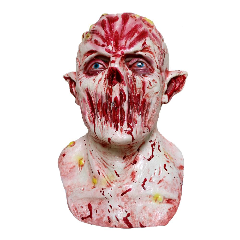 MostaShow Horror Blood Ghost Latex Mask Full Headgear Easter,Halloween,Cosplay Masquerade Masks