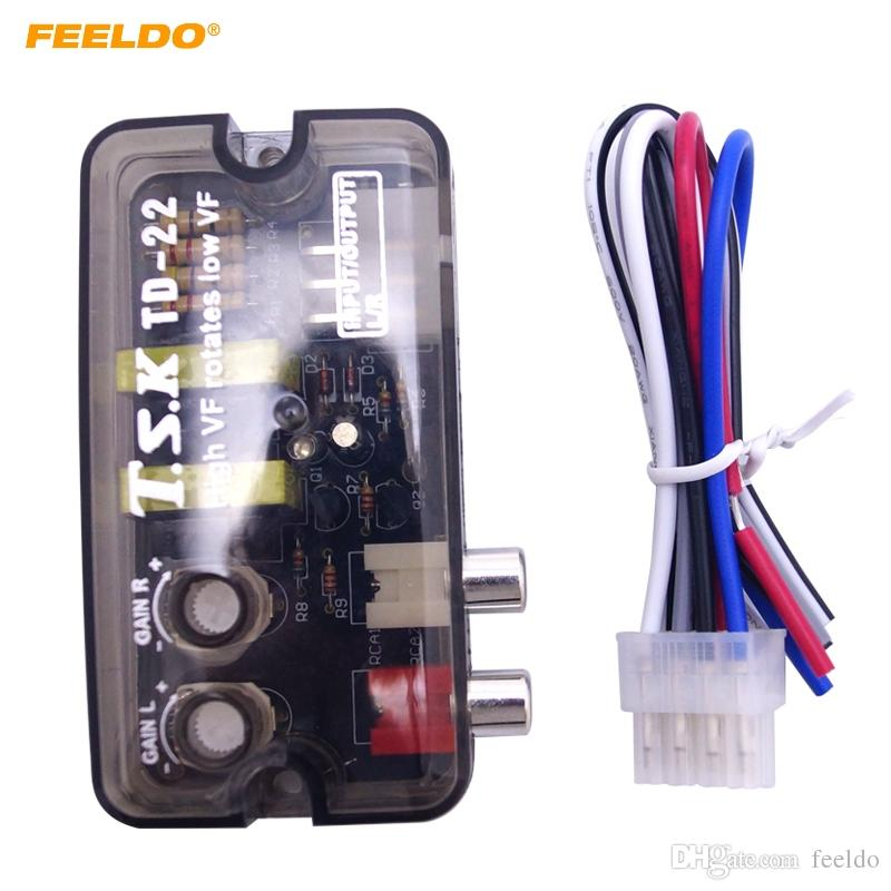 Feeldo 12V RCA Auto Car Stereo Audio Głośnik Konwerter High VF Obraca Low VF Converter # 1588