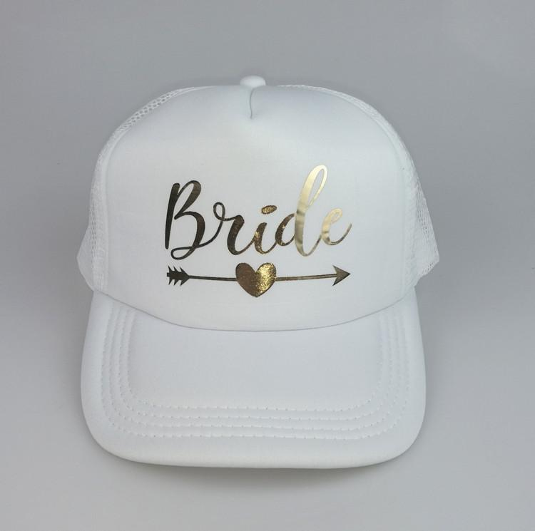 065a8ccd540 C Fung BRIDE SQUAD Baseball Caps Hat Bride To Be Gold Arrow Trucker Hats  Bachelor Party Summer Hat Bridesmaid Wedding Best Gift Custom Caps Cool Caps  From ...
