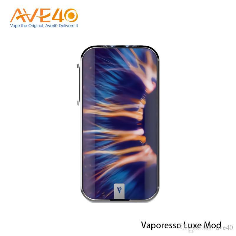 Vaporesso Luxe Mod 220W Powered By doppio 18650 Con TFT Touch Screen da 2,0 pollici Fit Skrr Serbatoio 100% originale
